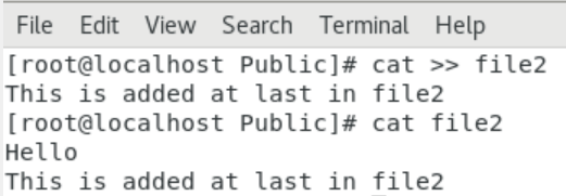 To add data at end of a file