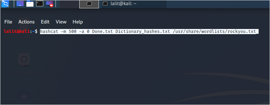 Cracking the Hashes
