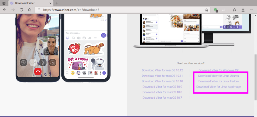 Installing Viber Using GUI