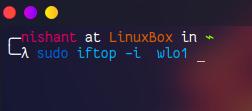 Linux iftop Listen Network traffic (interface) & Bandwidth (pair of hosts)