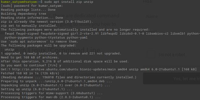 Installing Zip File Steup