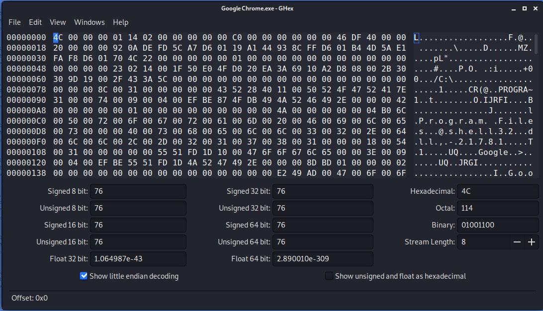 Ghex — GNOME Hex Editor