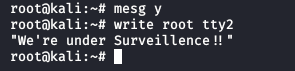 How to Send a Message to Logged Users in Linux Terminal
