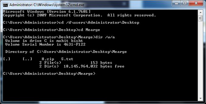Steps to Murge / Hide one file into another using CMD