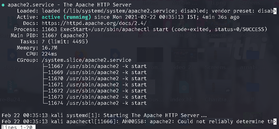 Useful Commands to Manage Apache Web Server in Linux