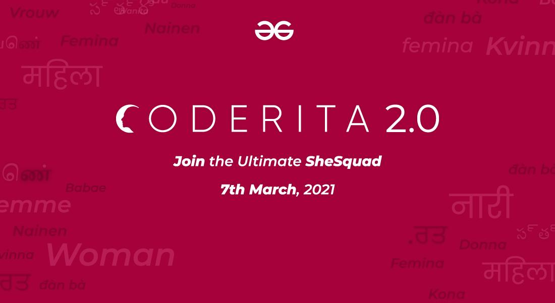Coderita 2.0 By GeeksforGeeks