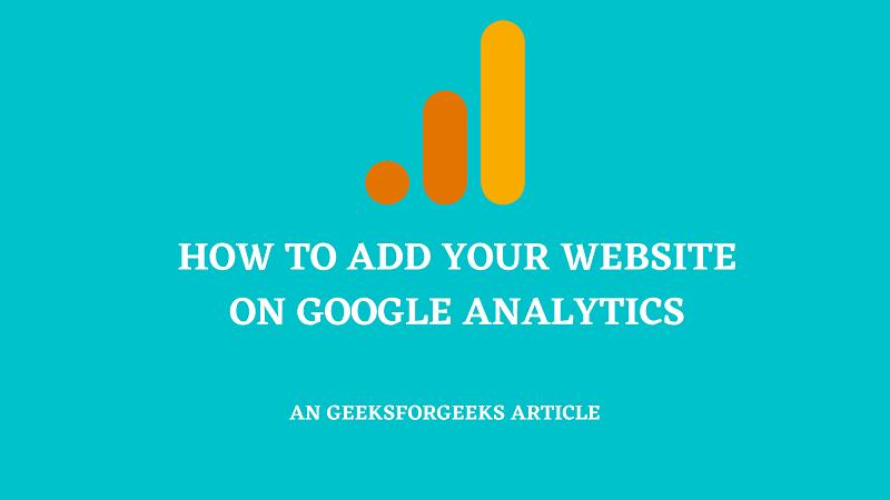 add website on google analytics