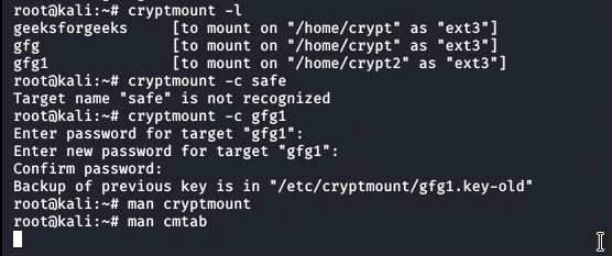 Cryptmount a Utility to Create Encrypted Filesystems in Linux