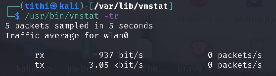 Linux vnstat a Console Network Traffic Monitoring Tool