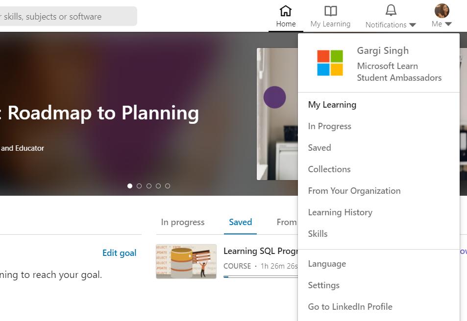 Microsoft Learn Student Ambassador - LinkedIn Learning