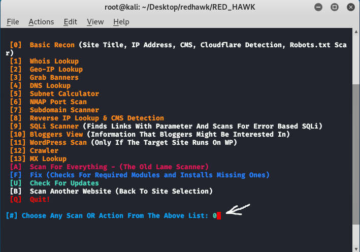 Red Hawk – Open Source Information Gathering and Vulnerability Scanninning-tool