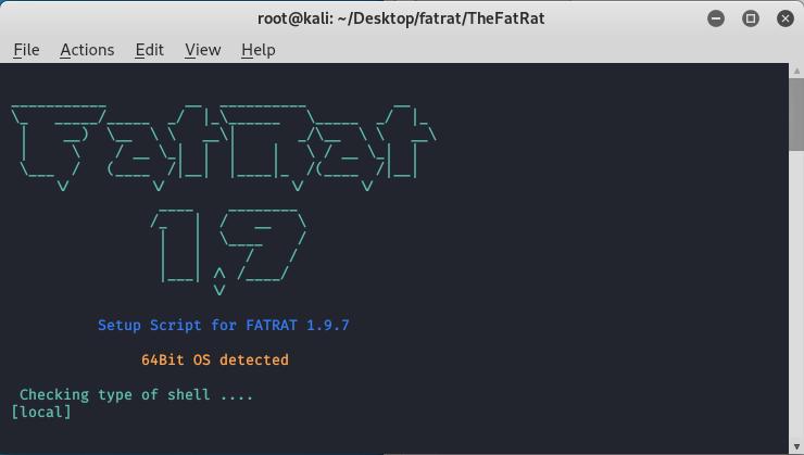 Installation of TheFatRat Tool in KALI LINUX.