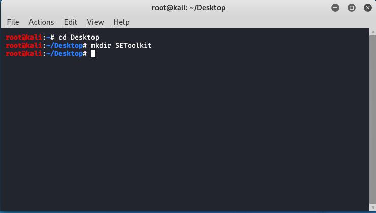 Social Engineering Toolkit  in Kali Linux .