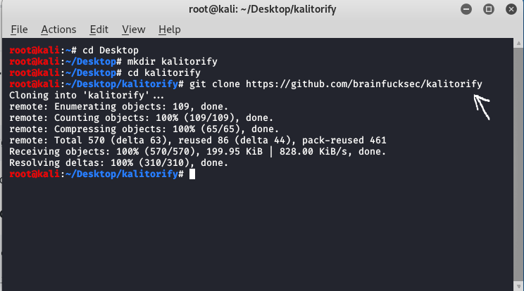 KaliTorify Installation in Kali Linux