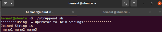 Shell Script to Join a String