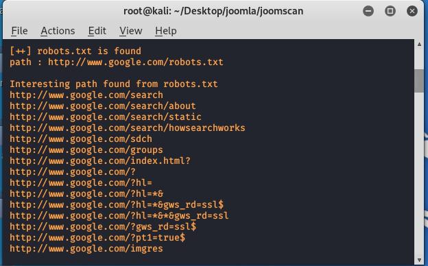 JoomScan tool -Vulnerability scanner in Kali Linux