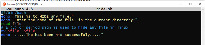Shell Script to List all Hidden Files in Current Directory