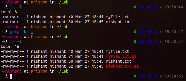 Gzip and Keep Original File in Linux