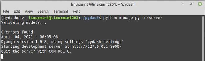 pydash a python app for monitoring your linux server