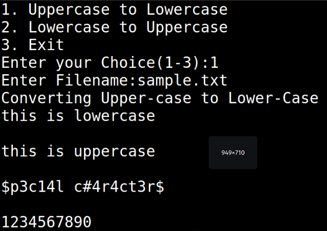 Shell Script to Convert a File to Lower Case or Upper Case as Specified by User