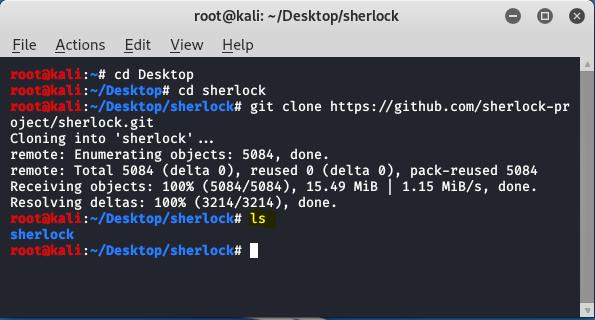 Sherlock - Hunt Username on Social Media  Kali Linux Tool