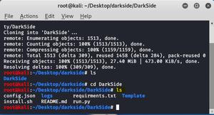 DarkSide – Information Gathering & Social Engineering Tool in Kali Linux