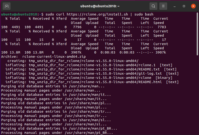 Rclone Sync File and Directories to Cloud Storage in Linux