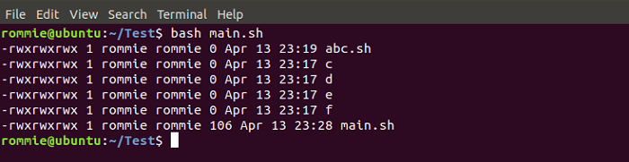 Shell Script to List the Files that have Read, Write and Execute Permissions