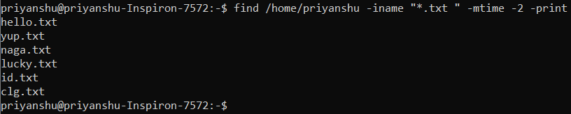 Linux Find Files Modified in Last N Number of Days