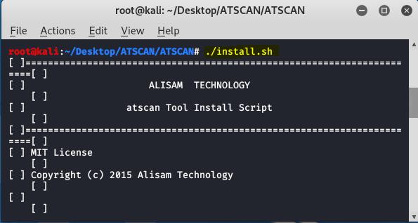 ATSCAN - Scanner d'applications Web avancé sur Kali Linux