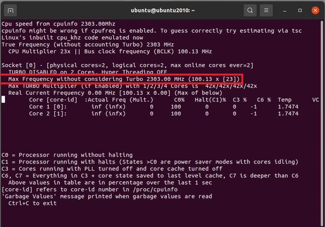 Ways to Check CPU Clock Speed on Linux