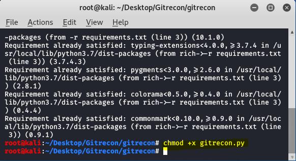 Gitrecon – OSINT Tool For Github in Kali Linux