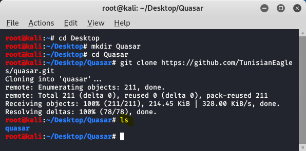 Quasar – An Open Source Information Gathering Tool in Kali Linux