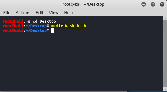 create directory maskphish