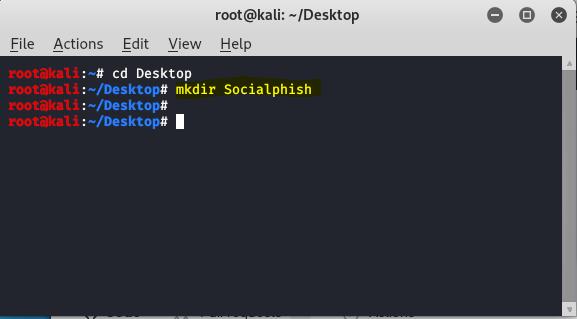 Socialphish- Phishing tool in Kali Linux.