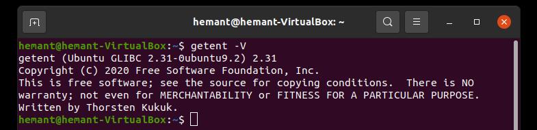 getennt command in linux