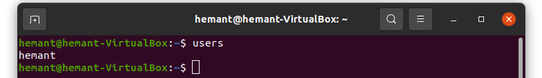 users command in linux