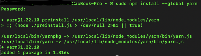 How to install Yarn in MacOs/Ubuntu/Windows?
