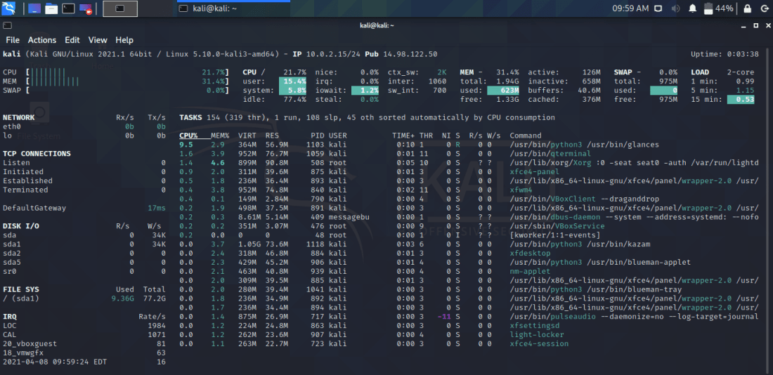 Use Glances to Monitor Remote Linux in Web Server Mode