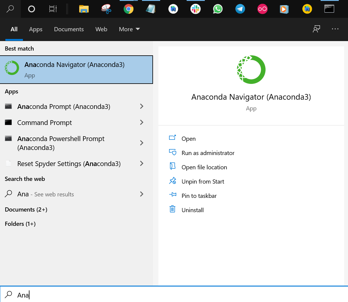 Anaconda Navigator
