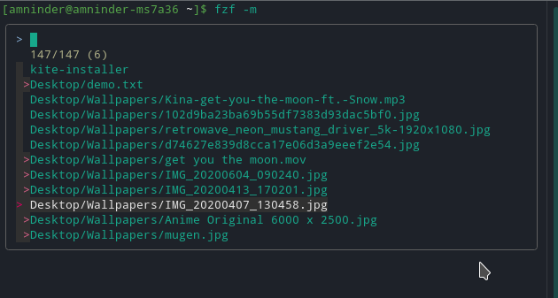 Fzf a Quick Fuzzy File Search from Linux Terminal