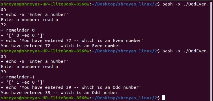Odd/ Even output