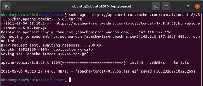Installing Apache Tomcat 8:
