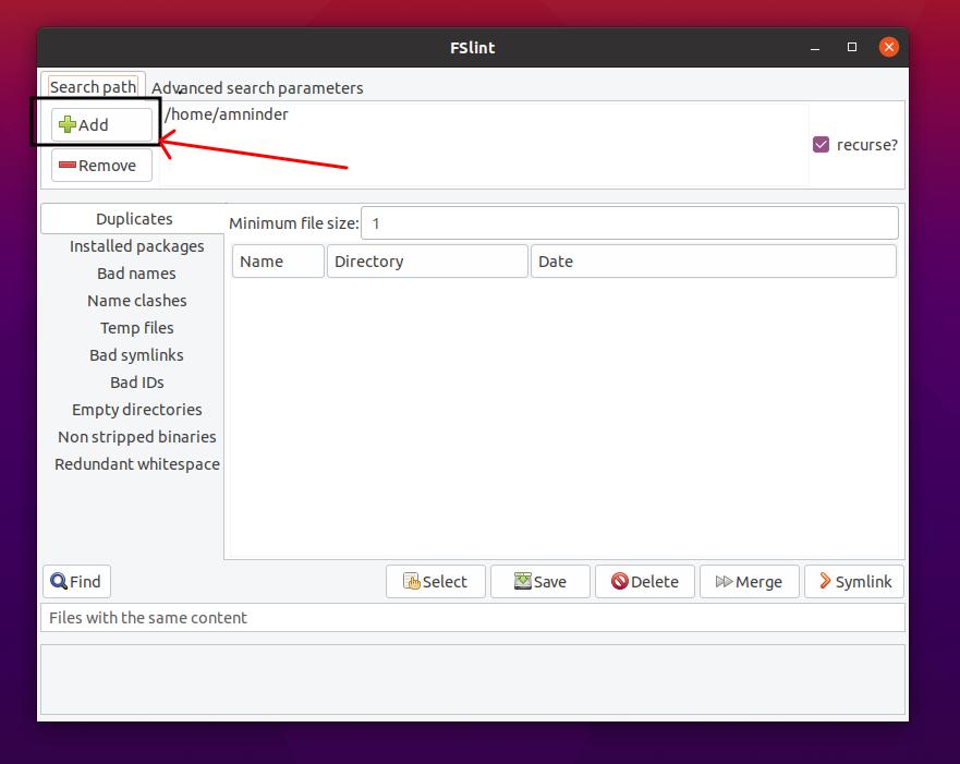fslint tool in linux