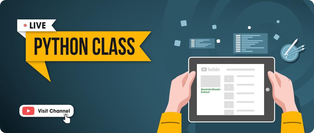 Live Python Classes - GFG School