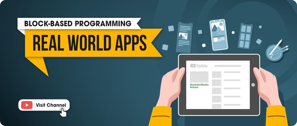 Creating Apps using block based programming - GFG School