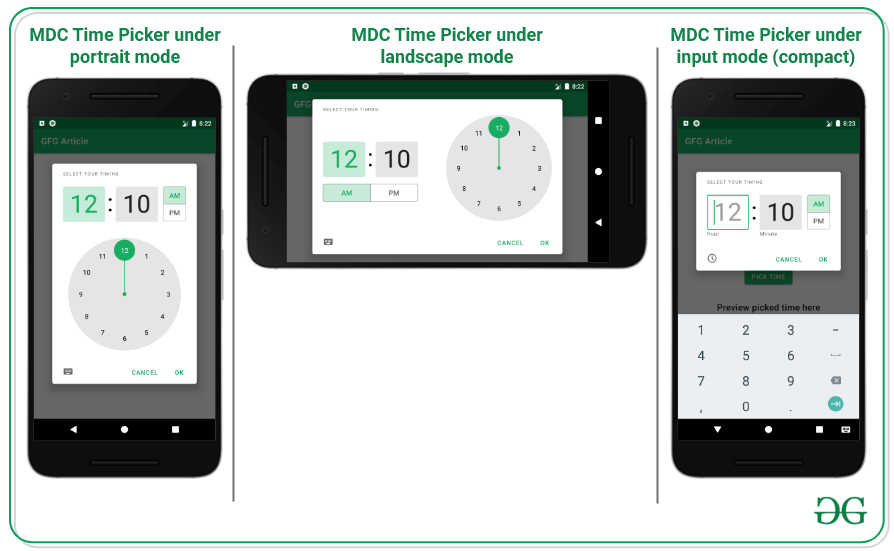 Material Design Time Picker in Android