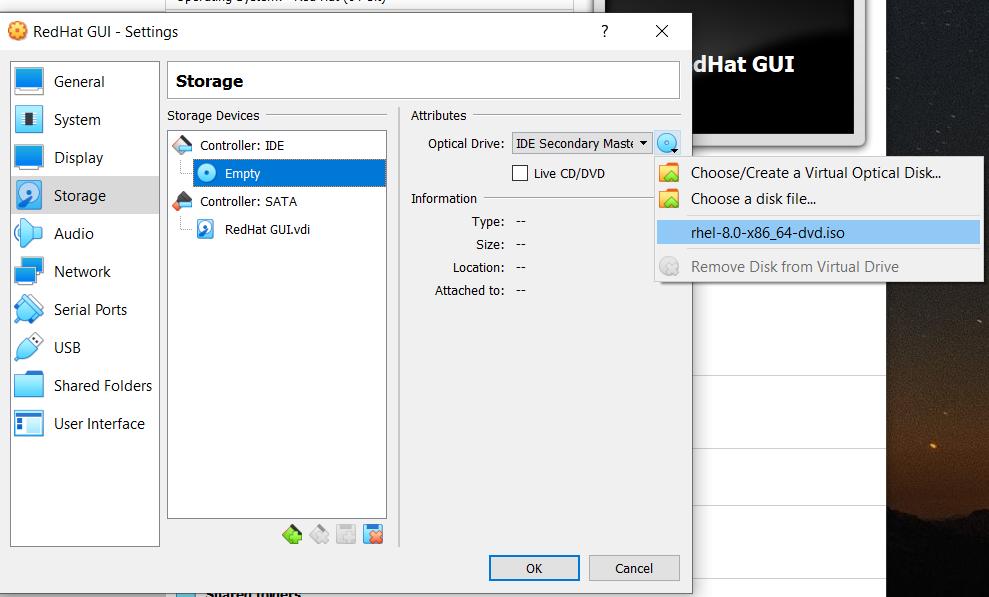 Installing RHEL 8 on VirtualBox