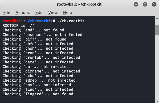 Detecting / Checking Rootkits with Chkrootkit and rkhunter in Kali Linux