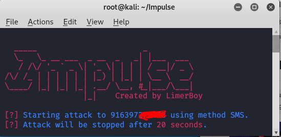 Impulse -Denial service toolkit in Kali Linux